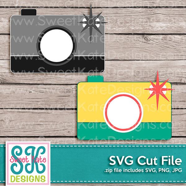 Camera SVG - Sweet Kate Designs