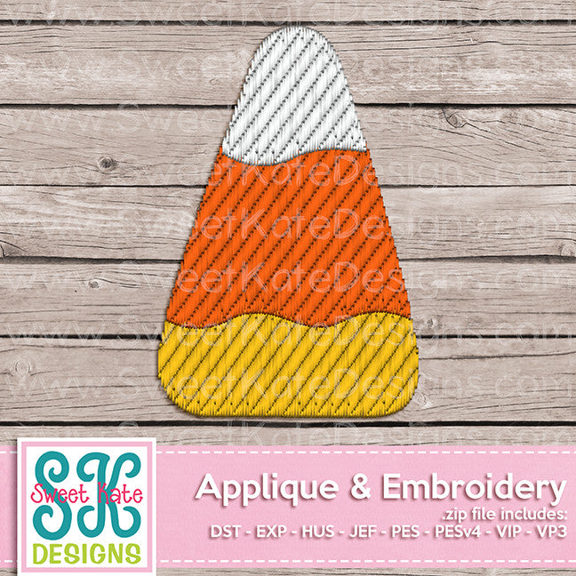 Candy Corn Mini Fill Stitch Embroidery - Sweet Kate Designs