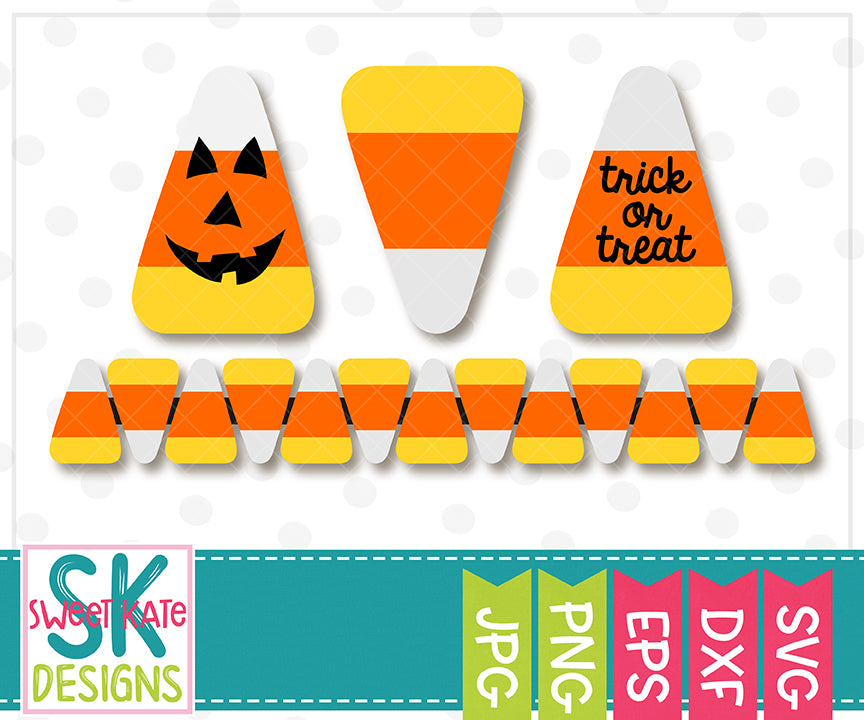 Candy Corn SVG DXF EPS PNG JPG - Sweet Kate Designs