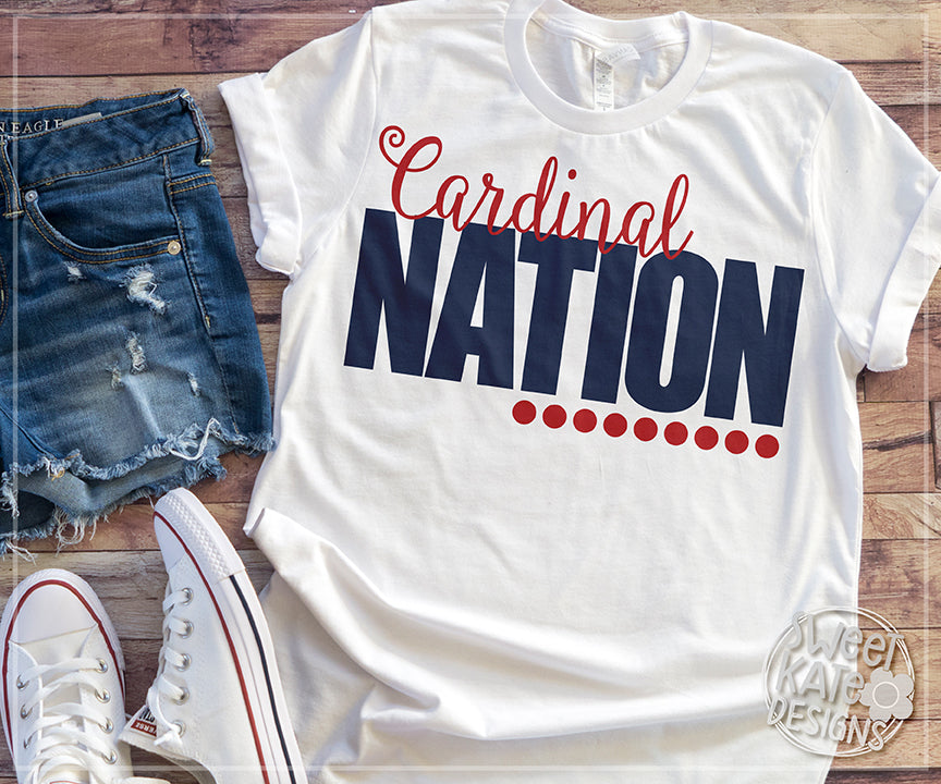 Cardinal Nation SVG DXF EPS PNG JPG - Sweet Kate Designs