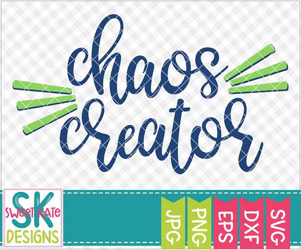 Chaos Creator SVG DXF EPS PNG JPG - Sweet Kate Designs