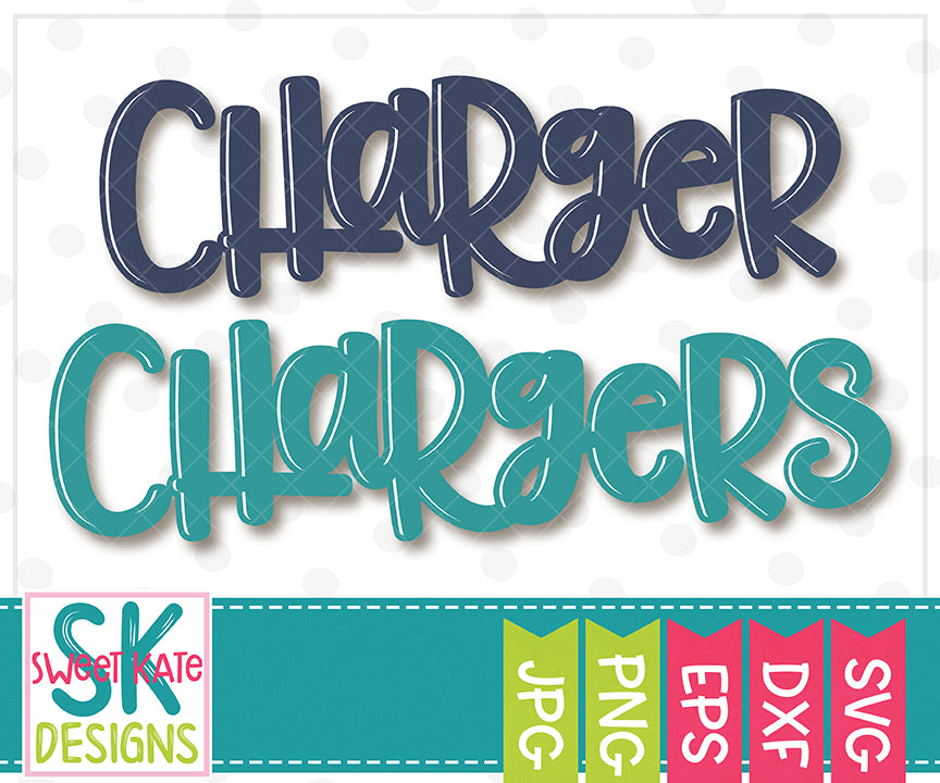 Charger/Chargers SVG DXF EPS PNG JPG - Sweet Kate Designs