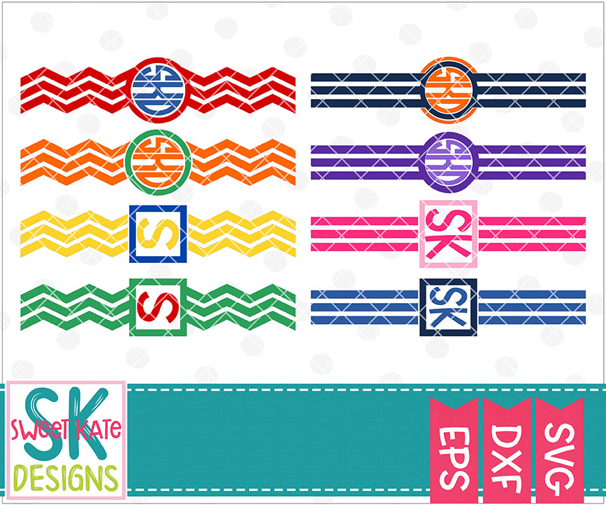 Charger Cord Monogram Wraps SVG DXF EPS PNG JPG - Sweet Kate Designs