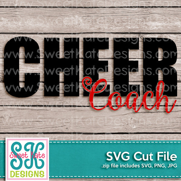 Cheer Coach SVG - Sweet Kate Designs