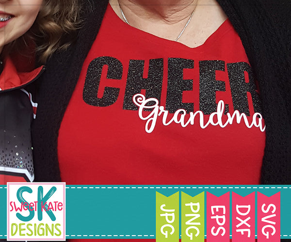 Cheer Grandma SVG DXF EPS PNG JPG - Sweet Kate Designs