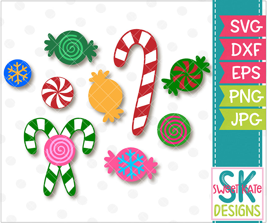 Christmas Candy SVG DXF EPS PNG JPG - Sweet Kate Designs
