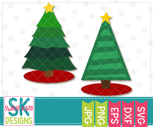 Christmas Trees SVG DXF EPS PNG JPG - Sweet Kate Designs