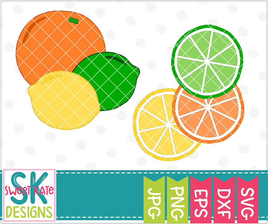 Citrus Fruits SVG DXF EPS PNG JPG - Sweet Kate Designs