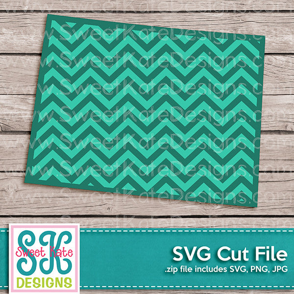 Colorado with Chevron Pattern SVG - Sweet Kate Designs