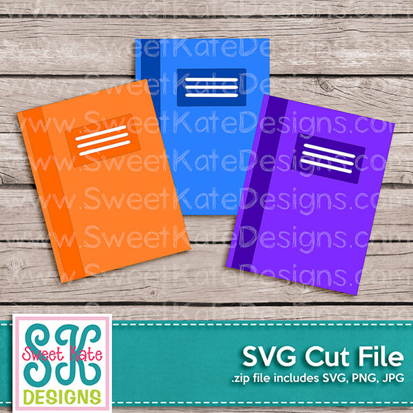 Composition Notebooks SVG - Sweet Kate Designs