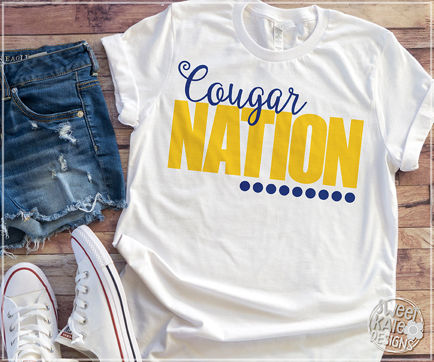 Cougar Nation Bundle SVG DXF EPS PNG JPG - Sweet Kate Designs