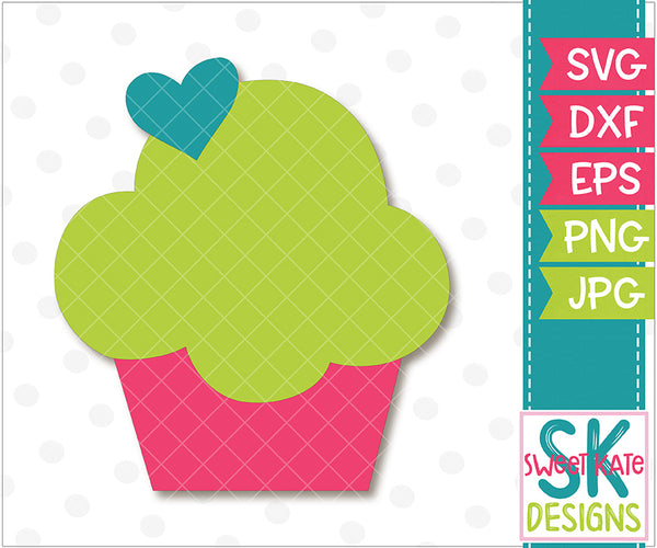 Cupcake SVG DXF EPS PNG JPG - Sweet Kate Designs