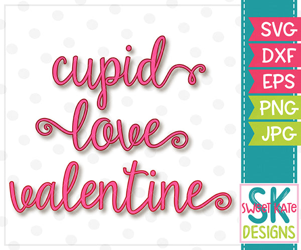 Cupid Love Valentine SVG DXF EPS PNG JPG - Sweet Kate Designs