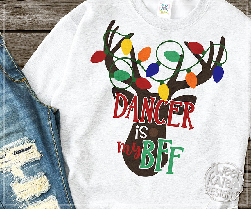 Dancer is my BFF SVG DXF EPS PNG JPG - Sweet Kate Designs