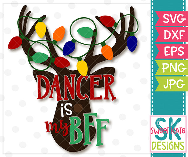 *NEW* Dancer is my BFF SVG DXF EPS PNG JPG - Sweet Kate Designs