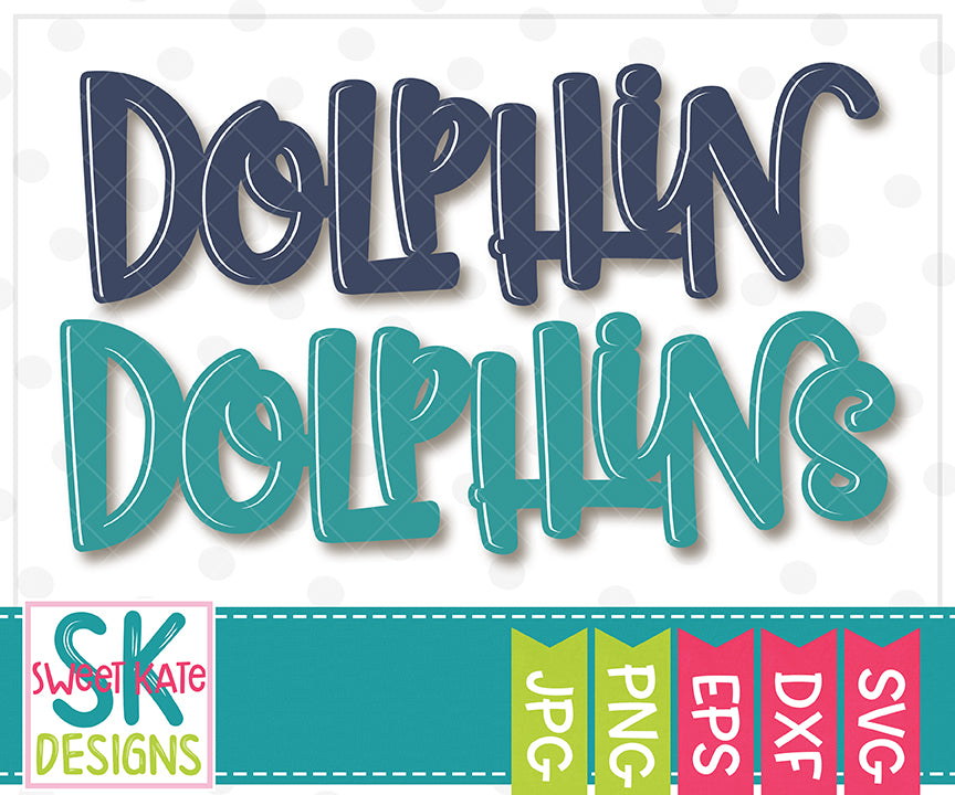 Dolphin/Dolphins SVG DXF EPS PNG JPG - Sweet Kate Designs