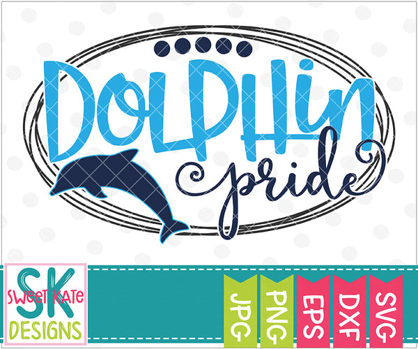 Dolphin Pride SVG DXF EPS PNG JPG - Sweet Kate Designs