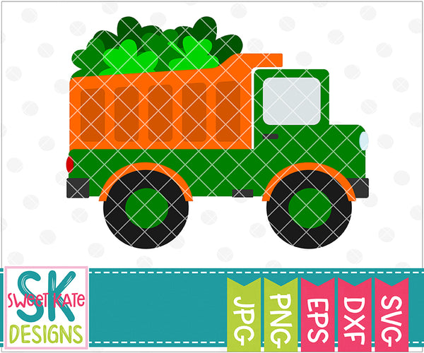 Dump Truck Full of Shamrocks SVG DXF EPS PNG JPG - Sweet Kate Designs