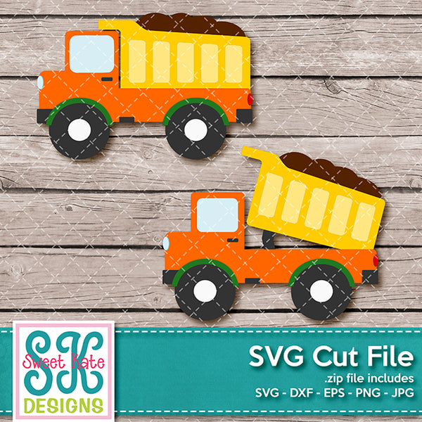 Dump Truck SVG DXF EPS PNG JPG - Sweet Kate Designs