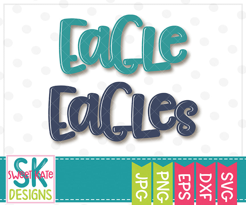 Eagle/Eagles SVG DXF EPS PNG JPG - Sweet Kate Designs