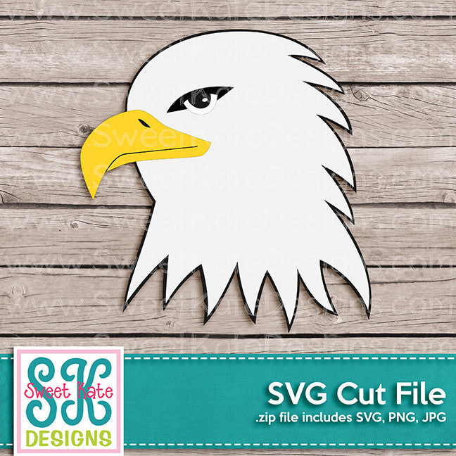 Eagle Head SVG - Sweet Kate Designs