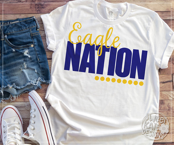 Eagle Nation Bundle SVG DXF EPS PNG JPG - Sweet Kate Designs