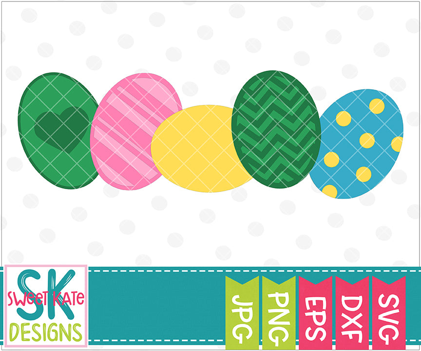 Easter Eggs SVG DXF EPS PNG JPG - Sweet Kate Designs