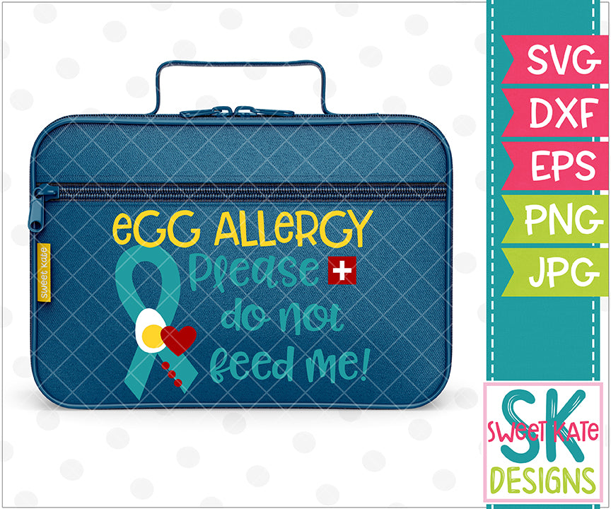 Egg Allergy Please Do Not Feed Me SVG DXF EPS PNG JPG