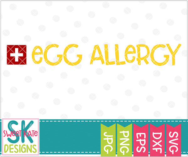 Egg Allergy SVG DXF EPS PNG JPG
