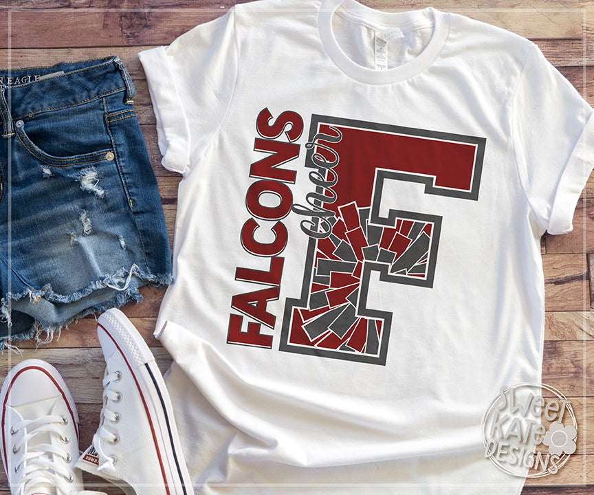 F Falcons Cheer SVG DXF EPS PNG JPG - Sweet Kate Designs