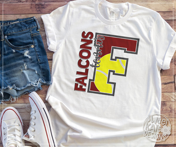 F Falcons Tennis SVG DXF EPS PNG JPG - Sweet Kate Designs