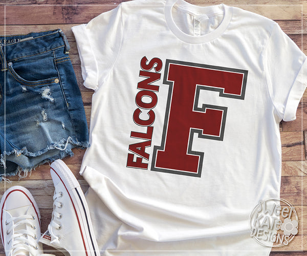 F Falcons SVG DXF EPS PNG JPG - Sweet Kate Designs
