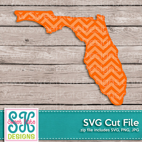 Florida with Chevron Pattern SVG - Sweet Kate Designs