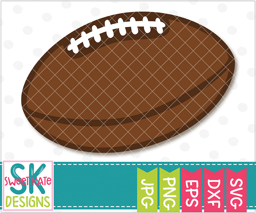 Football SVG DXF EPS PNG JPG - Sweet Kate Designs
