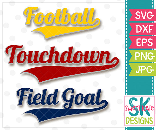 Football Touchdown Field Goal SVG DXF EPS - Sweet Kate Designs