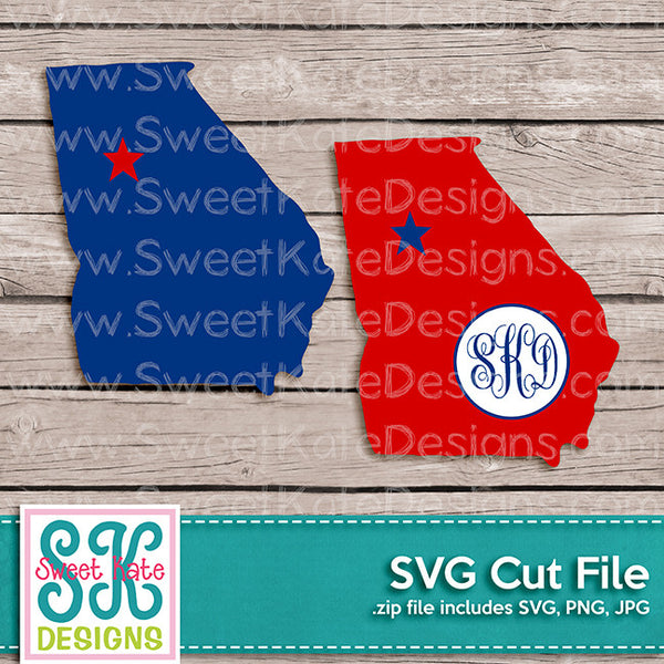 Georgia with Monogram Option SVG - Sweet Kate Designs