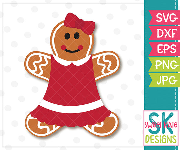 Gingerbread Couple SVG DXF EPS PNG JPG