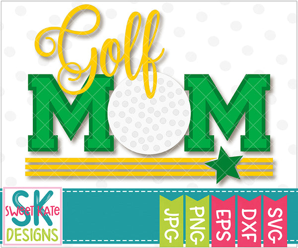 Golf Mom SVG DXF EPS PNG JPG - Sweet Kate Designs