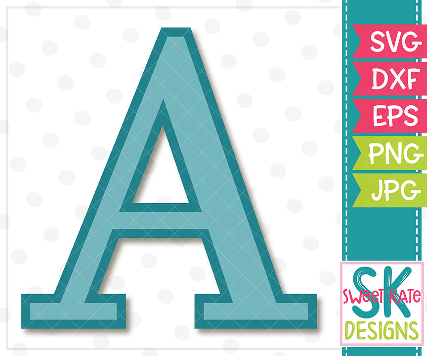 Greek Alphabet: Alpha SVG DXF EPS PNG JPG - Sweet Kate Designs