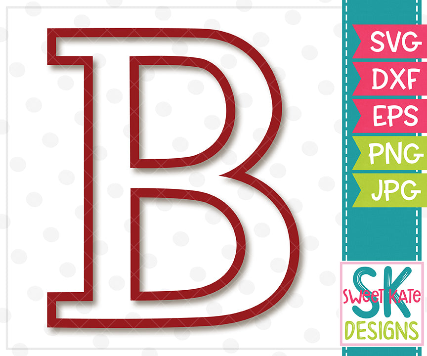 Greek Alphabet: Beta SVG DXF EPS PNG JPG - Sweet Kate Designs