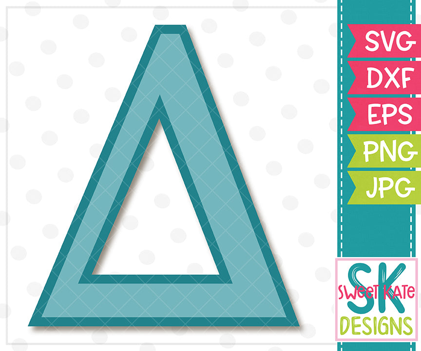 Greek Alphabet: Delta SVG DXF EPS PNG JPG - Sweet Kate Designs