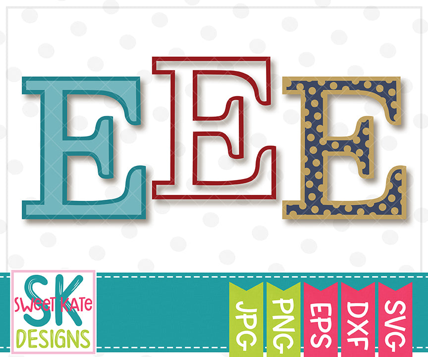 Greek Alphabet: Epsilon SVG DXF EPS PNG JPG - Sweet Kate Designs