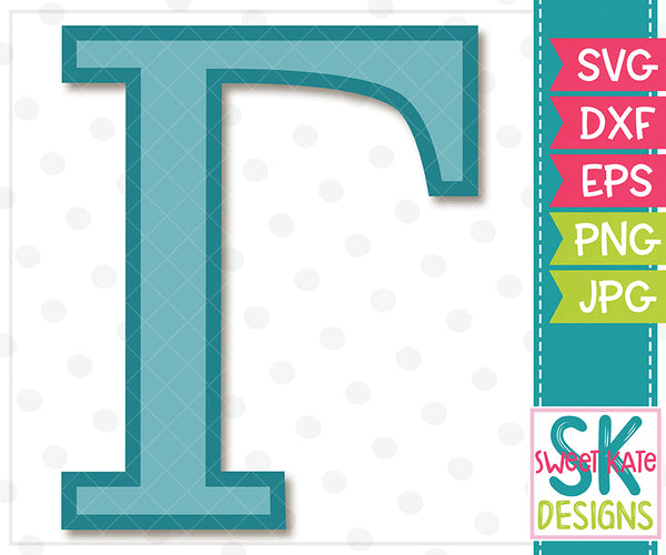 Greek Alphabet: Gamma SVG DXF EPS PNG JPG - Sweet Kate Designs