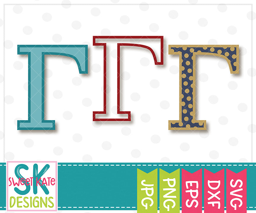 Greek Alphabet: SVG Bundle 24 Letters SVG DXF EPS PNG JPG - Sweet Kate Designs