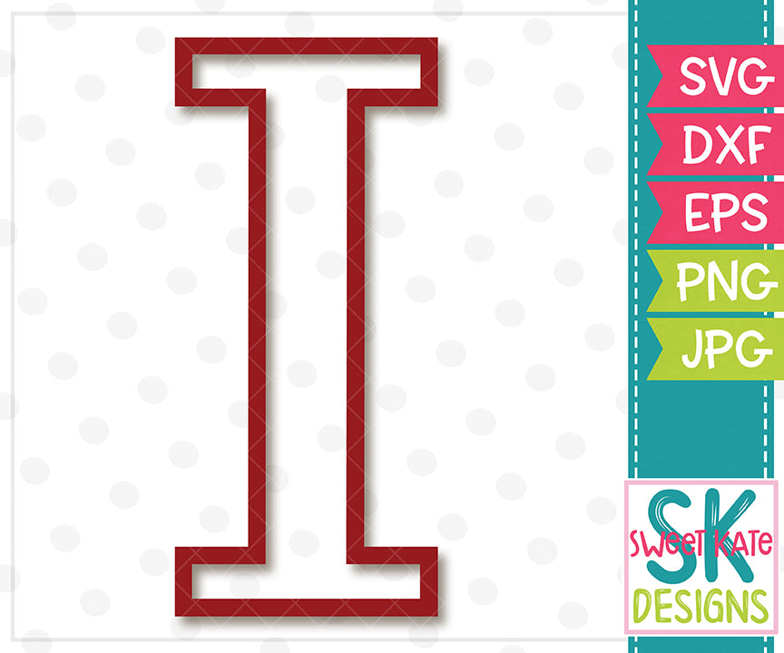 Greek Alphabet: Iota SVG DXF EPS PNG JPG - Sweet Kate Designs