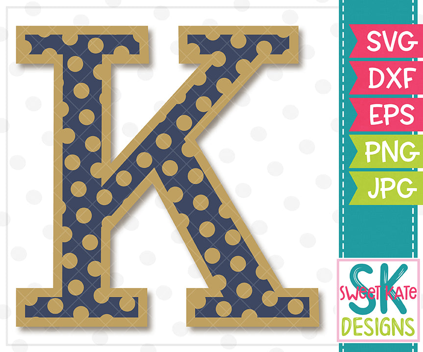 Greek Alphabet: Kappa SVG DXF EPS PNG JPG - Sweet Kate Designs