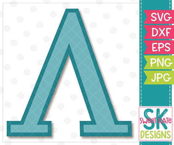 Greek Alphabet: Lambda SVG DXF EPS PNG JPG - Sweet Kate Designs