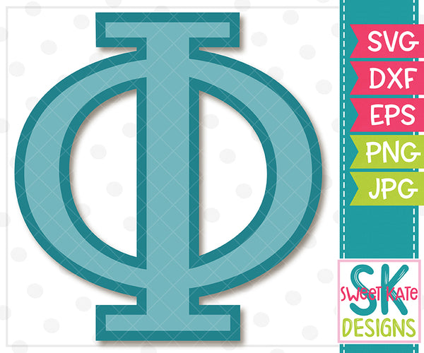 Greek Alphabet: Phi SVG DXF EPS PNG JPG - Sweet Kate Designs
