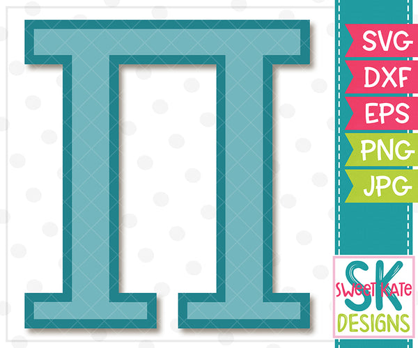 Greek Alphabet: Pi SVG DXF EPS PNG JPG - Sweet Kate Designs