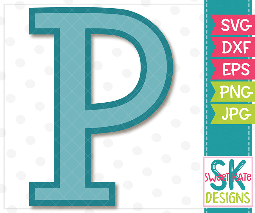 Greek Alphabet: Rho SVG DXF EPS PNG JPG - Sweet Kate Designs